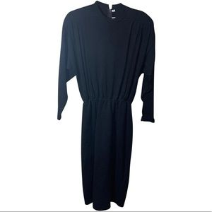 ST JOHN Black Long Sleeve sweater dress